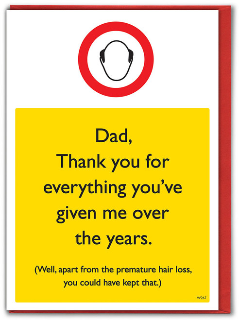 Premature Hair Loss Father's Day Card