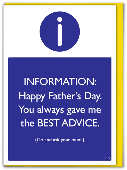 Best Advice Father's Day Card