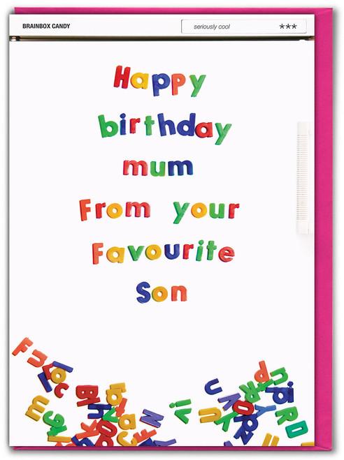Mum Favourite Son Birthday Card