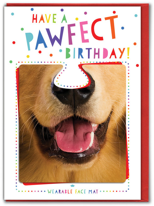 Pawfect Birthday! Greetings Card & Face Mat