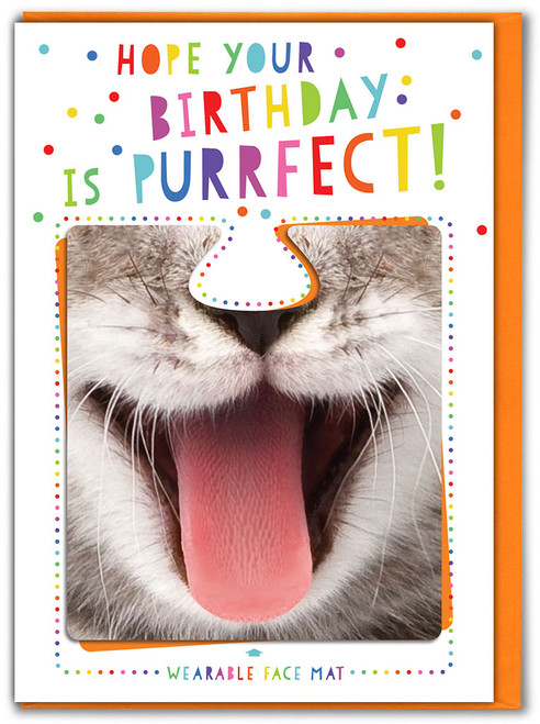 Purrfect Birthday! Greetings Card & Face Mat