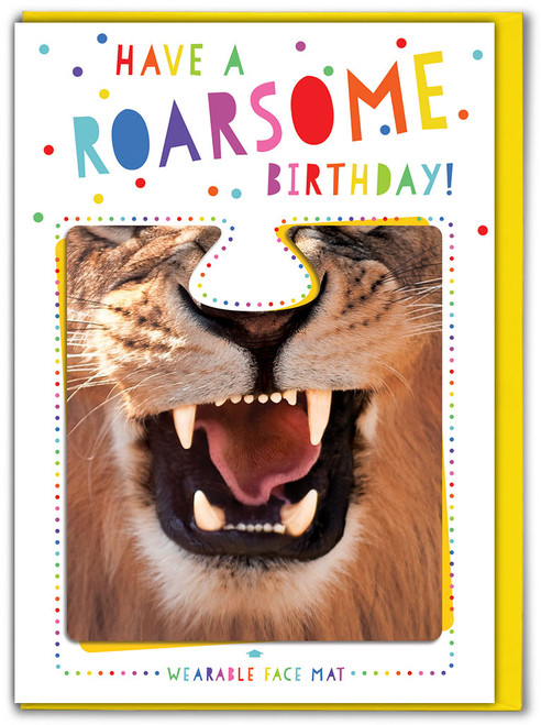 Roarsome Birthday! Card & Face Mat