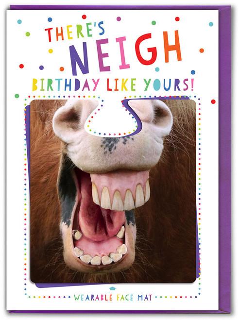 Neigh Birthday! Greetings Card & Face Mat