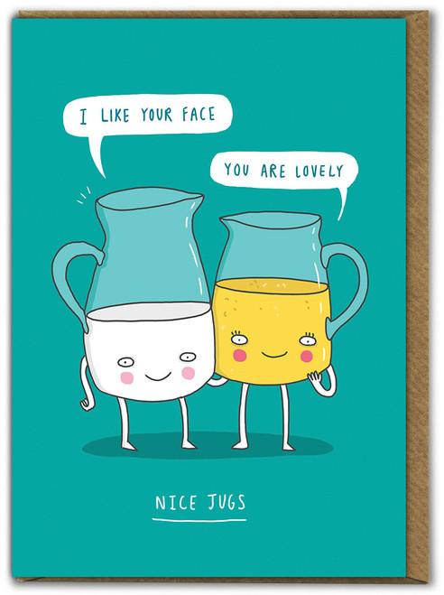 Nice Jugs Birthday Card