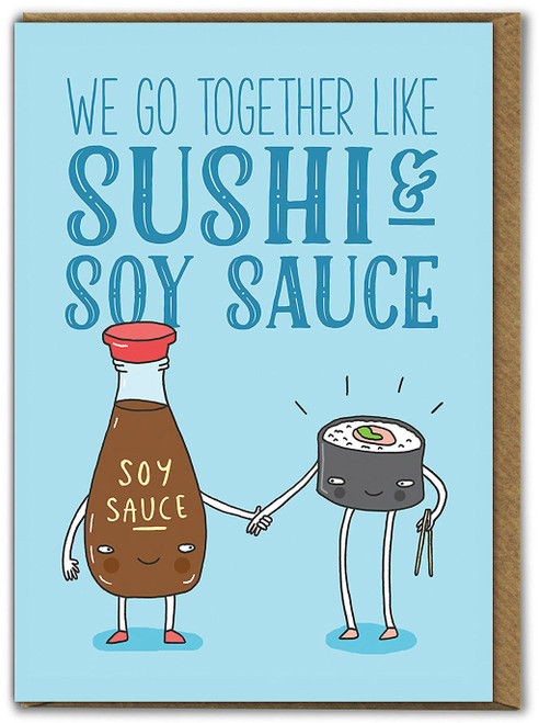 Sushi And Soy Sauce Birthday Card