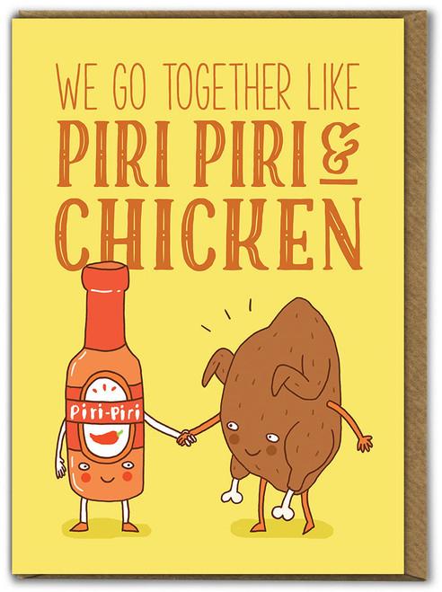 Piri Piri And Chicken Birthday Card