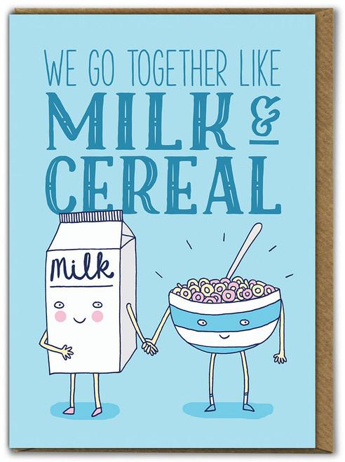 Milk & Cereal Birthday Card