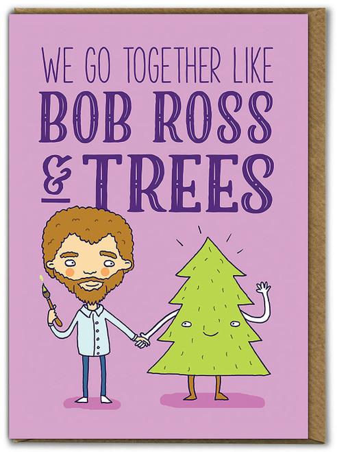 Bob Ross And Trees Birthday Card