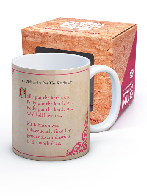 Polly Put The Kettle On Boxed Mug