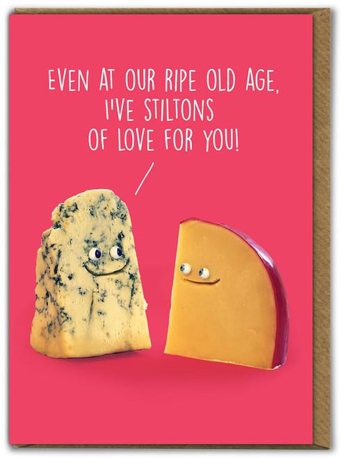 Stiltons Of Love Birthday Card