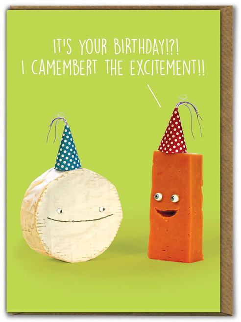 Camembert Birthday Card