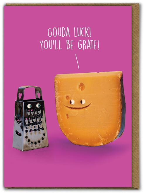 Gouda Luck Good Luck Card