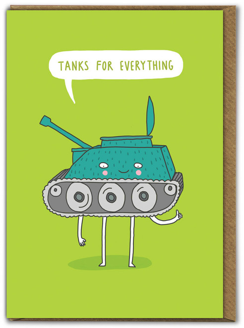 Tanks For Everything Thank You Card - Multi Pack Options Available