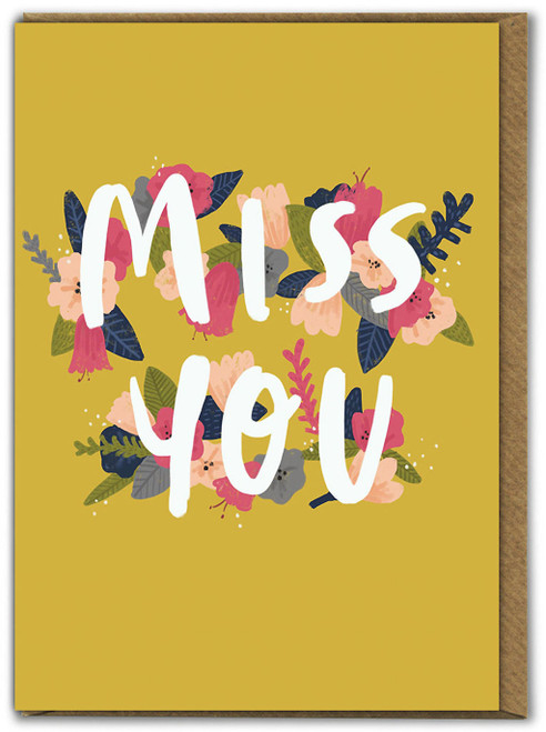 Miss You Floral Greetings Card