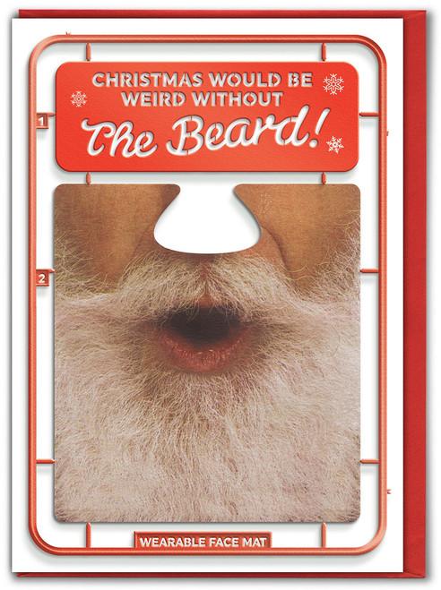 Weird Beard Christmas Card & Face Mat