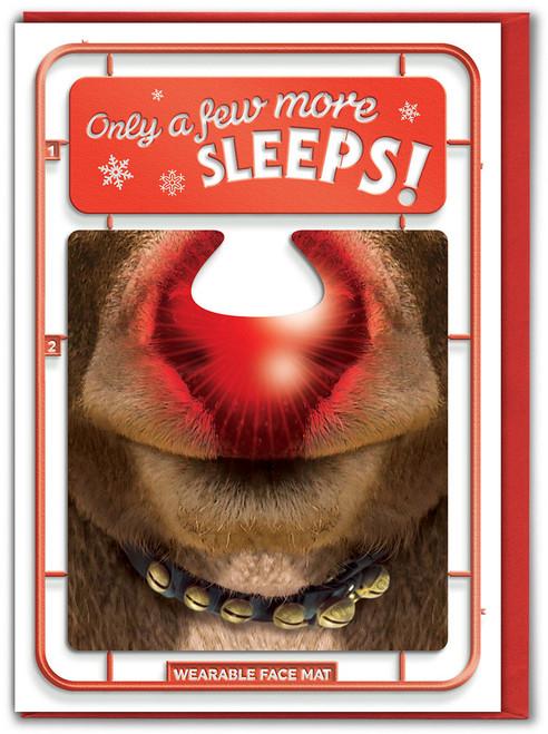 Few More Sleeps! Christmas Card & Face Mat