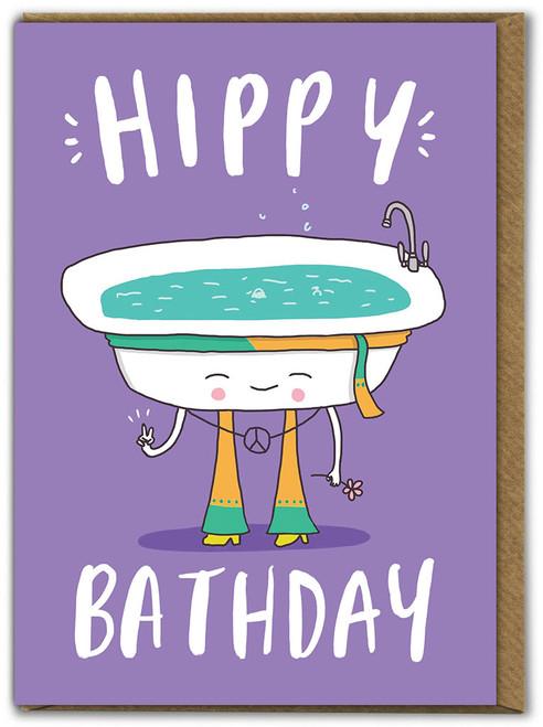 Hippy Bathday Birthday Card