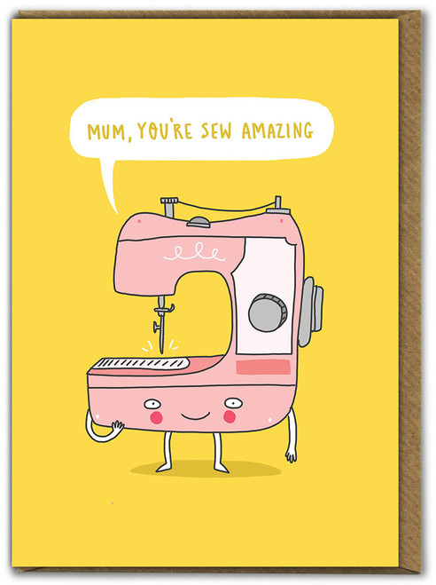 Mum Sew Amazing Mother's Day Greetings Card