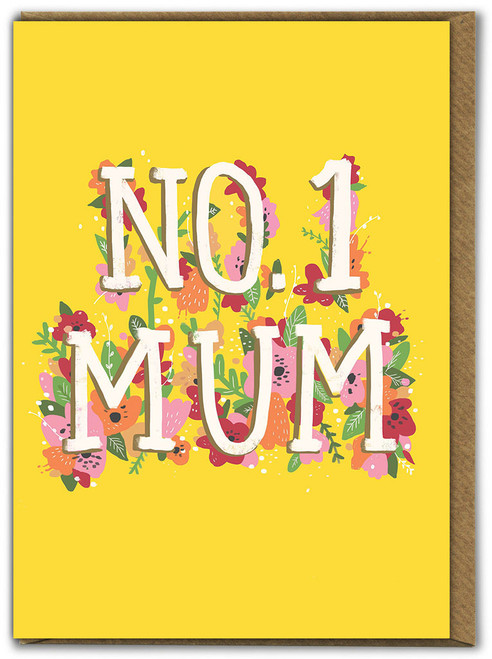 No 1 Mum Mother's Day Greetings Card
