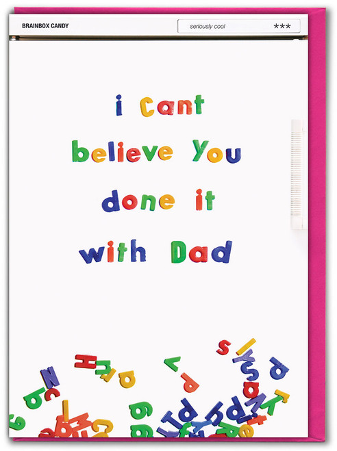 Done It With Dad Mother's Day Greetings Card
