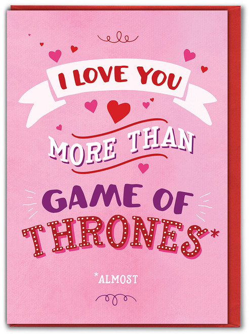 I Love You More Than...Valentine's Day Card