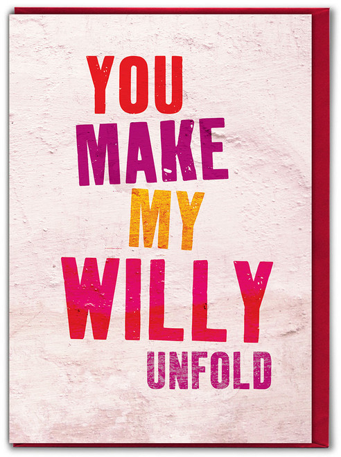 Willy Unfold Valentine's Day Greetings Card