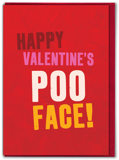 Poo Face! Valentine's Day Greetings Card