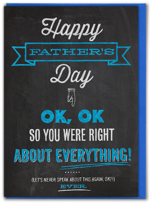 Right About Everything Father's Day Card