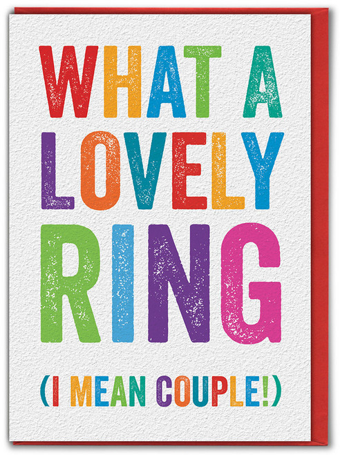 What A Lovely Ring Engagement Greetings Card