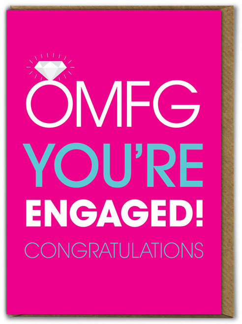 OMFG You're Engaged! Card