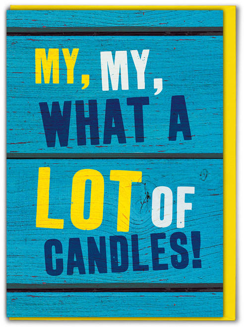 What A Lot Of Candles! Birthday Card