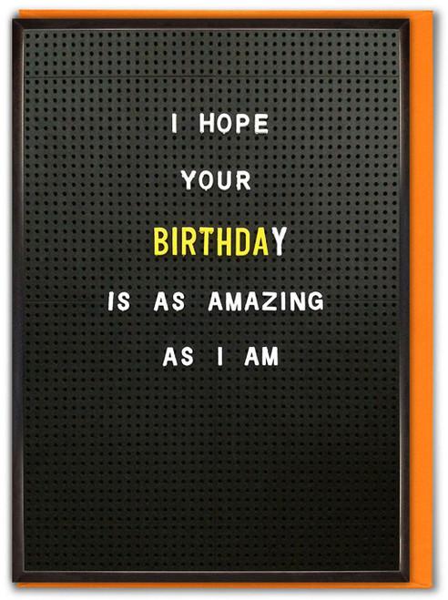 Amazing As I Am Birthday Peg Board Card