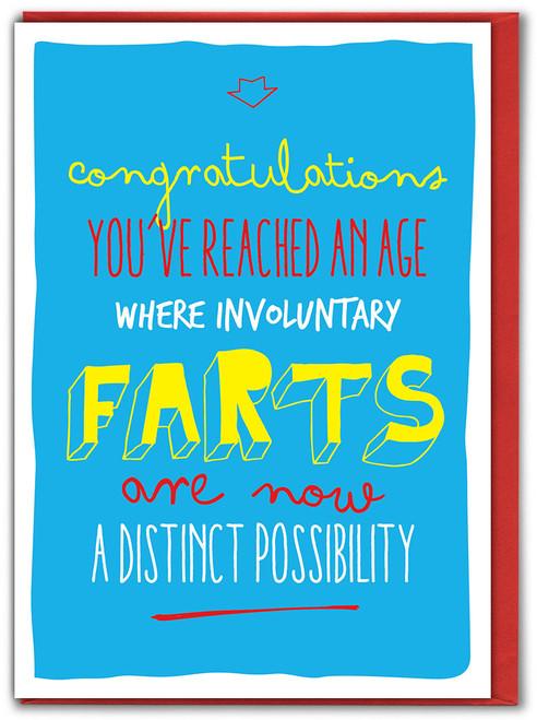 Funny Involuntary Farts Birthday Card