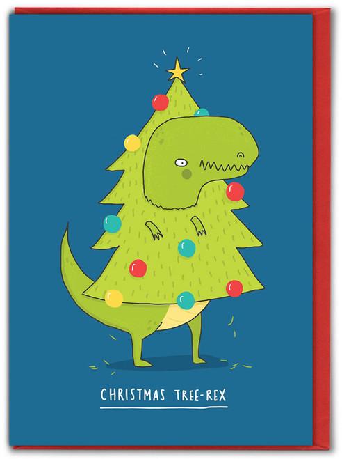 Christmas Tree-Rex Xmas Card