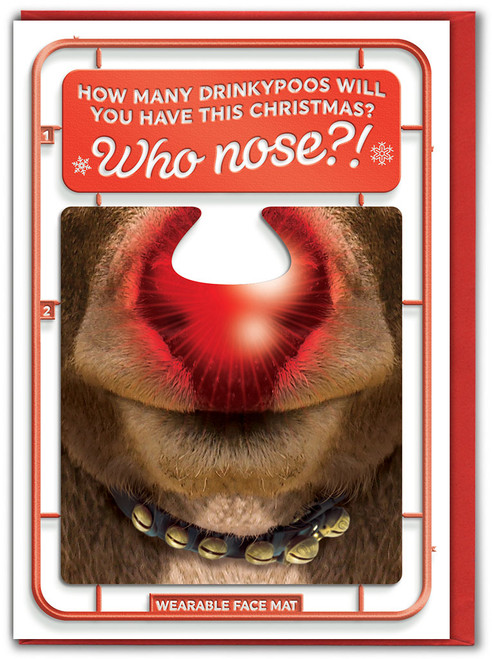 Who Nose?! Christmas Card With Face Mat