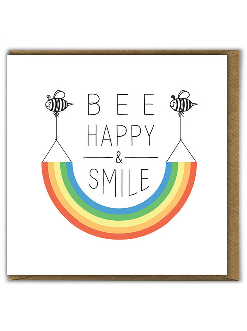 Bee Happy And Smile Birthday Card
