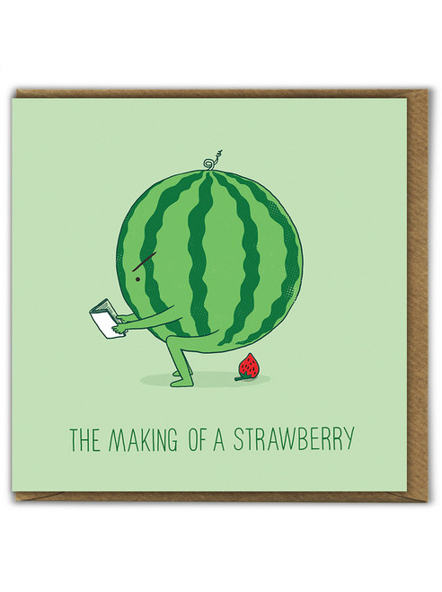 Making Of Strawberry Birthday Card