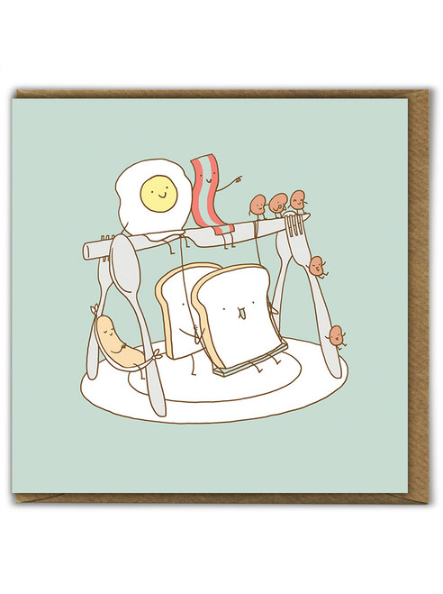 Breakfast Playground Birthday Card