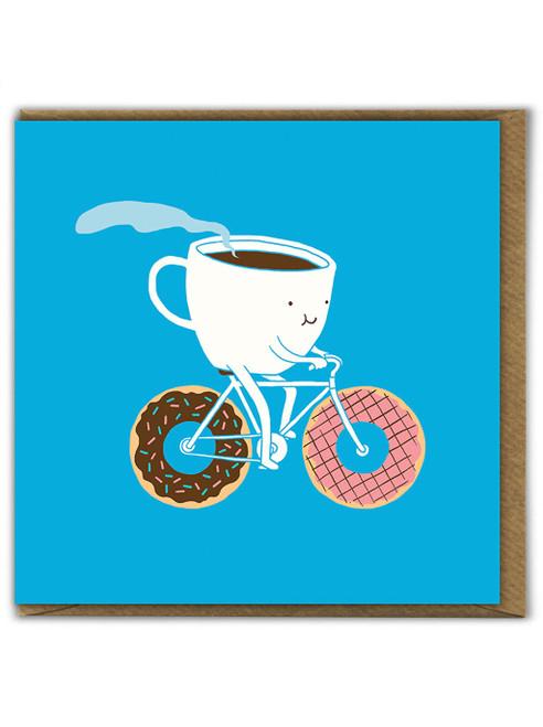 Coffee & Doughnuts Birthday Greetings Card