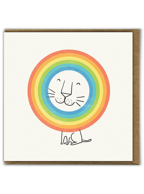 Happy Lion Birthday Greetings Card