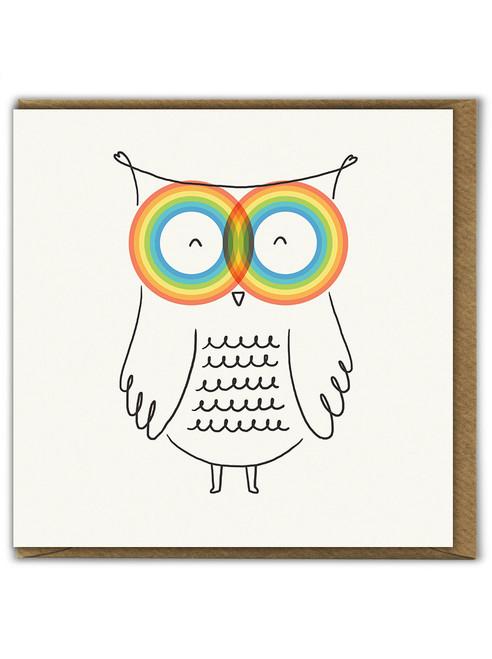 RainbOwl Birthday Greetings Card