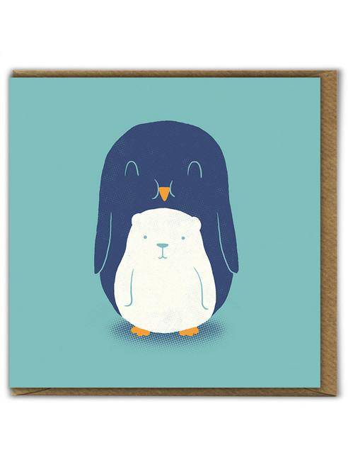 Polar Bear Belly Birthday Greetings Card