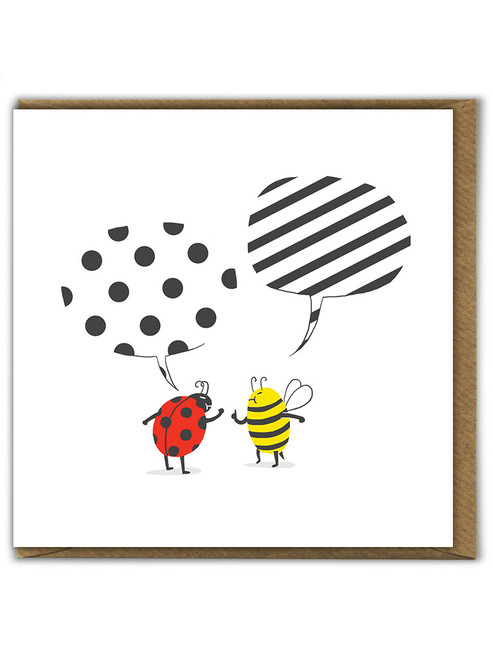 Pattern Conflict Birthday Greetings Card