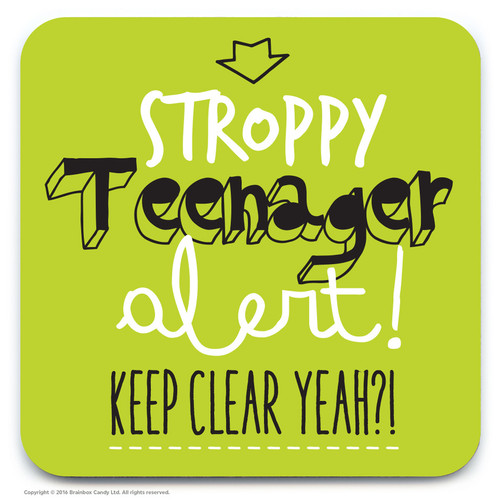 Lime Green Stroppy Teenager Coaster