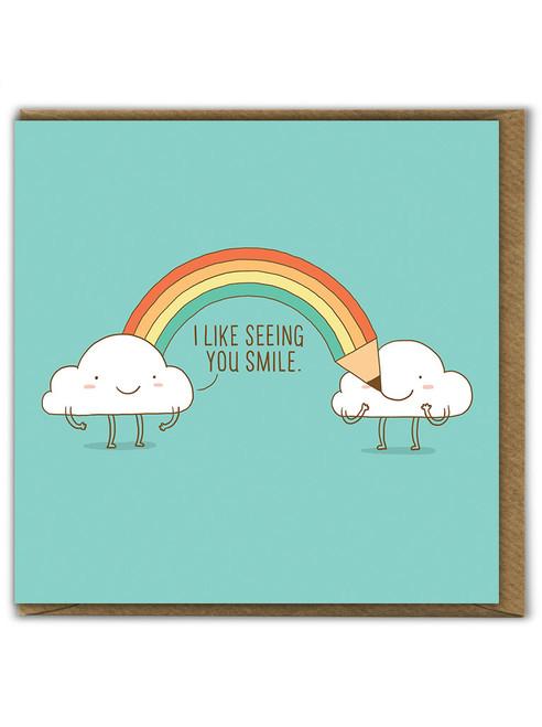 Happy Clouds Birthday Greetings Card