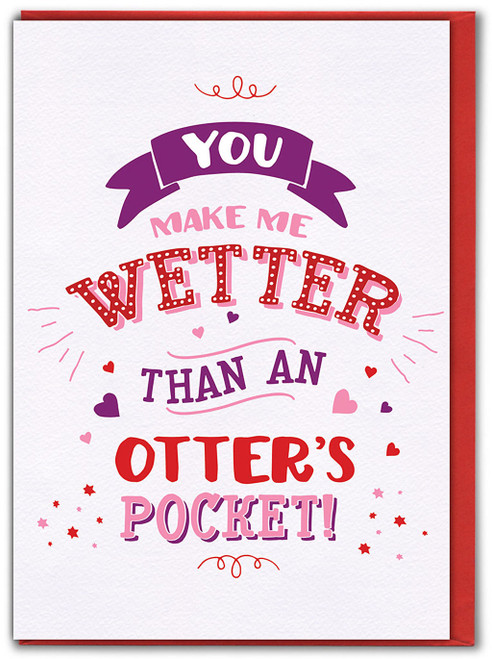 Otter's Pocket Valentine's Day Greetings Card