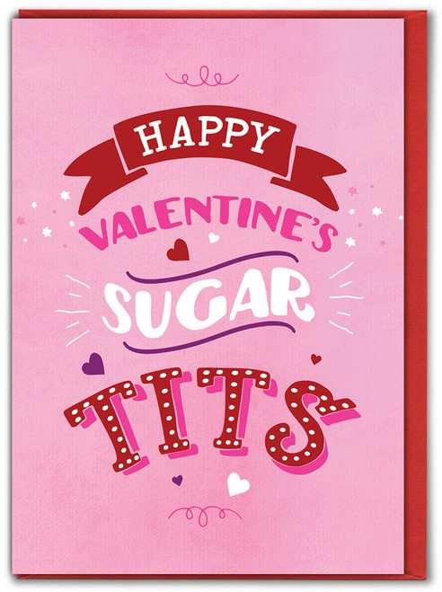Sugar Tits Valentine's Day Greetings Card