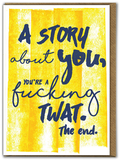 Story About You Birthday Card
