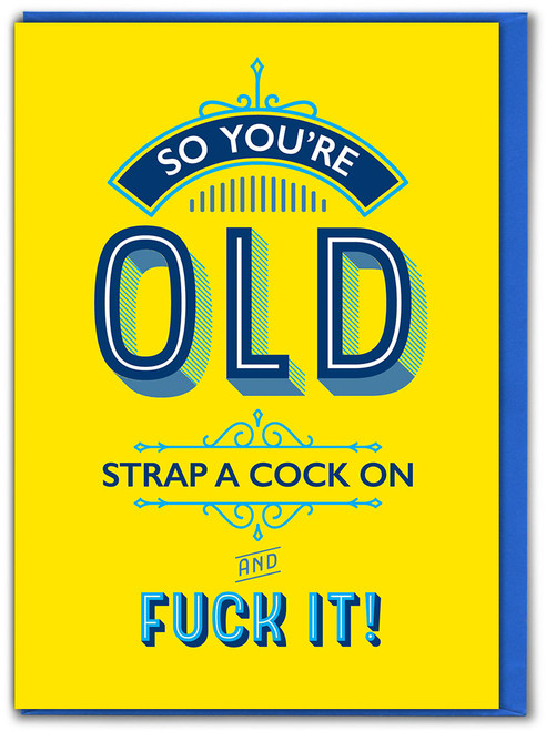 Strap A Cock On Birthday Card