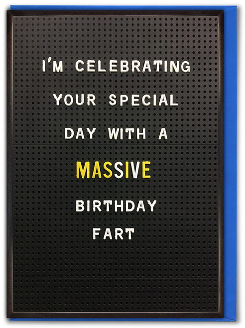 Birthday Fart Greetings Card